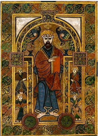 Book of Kells Icon of Christ