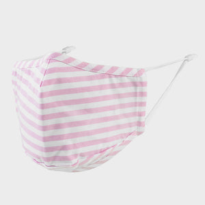 Pink Stripe Face Mask