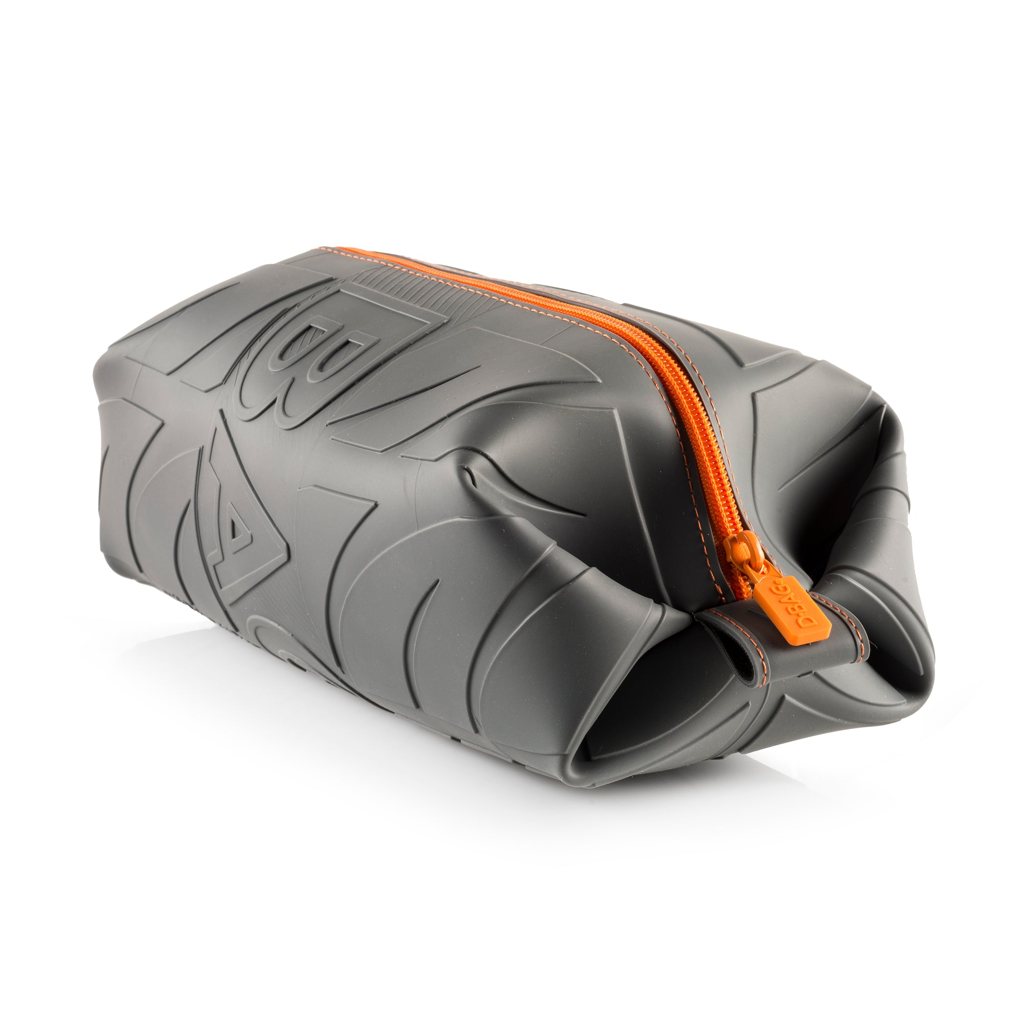 Grey And Orange >> Wurkin Stiffs Ditty S Dry Goods Grey And Orange Silicone Dopp Bag