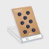 Plastic Covered Magnetic Power Buttons - Blue