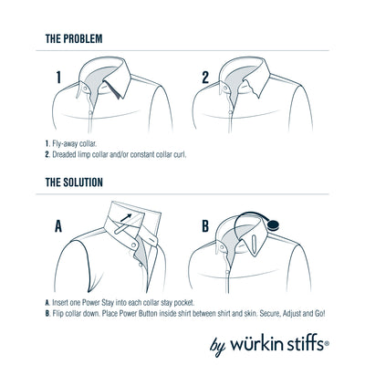 how to wear collar stays