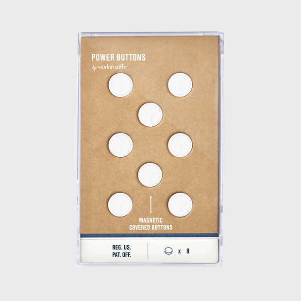 Magnetic Power Buttons - White 1