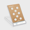 Plastic Covered Magnetic Power Buttons - White