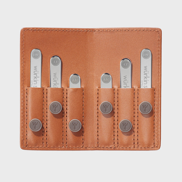 Power Stays Assorted Size Leather Travel Set - Tan 1