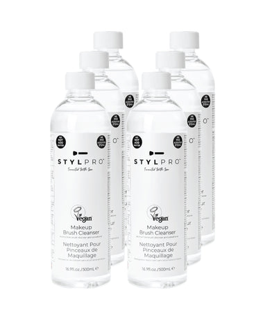 STYLPRO Vegan Makeup Brush Cleanser - 500ml 6 pack