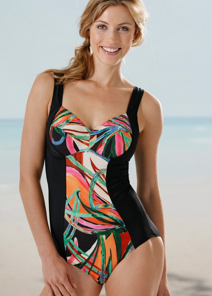 Swimsuit with slenderizing cut