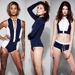 Britain's Next Top Models finalists wearing Duskii neoprene suits