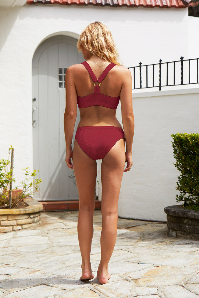 Bay Breeze Bikini Top | Raspberry