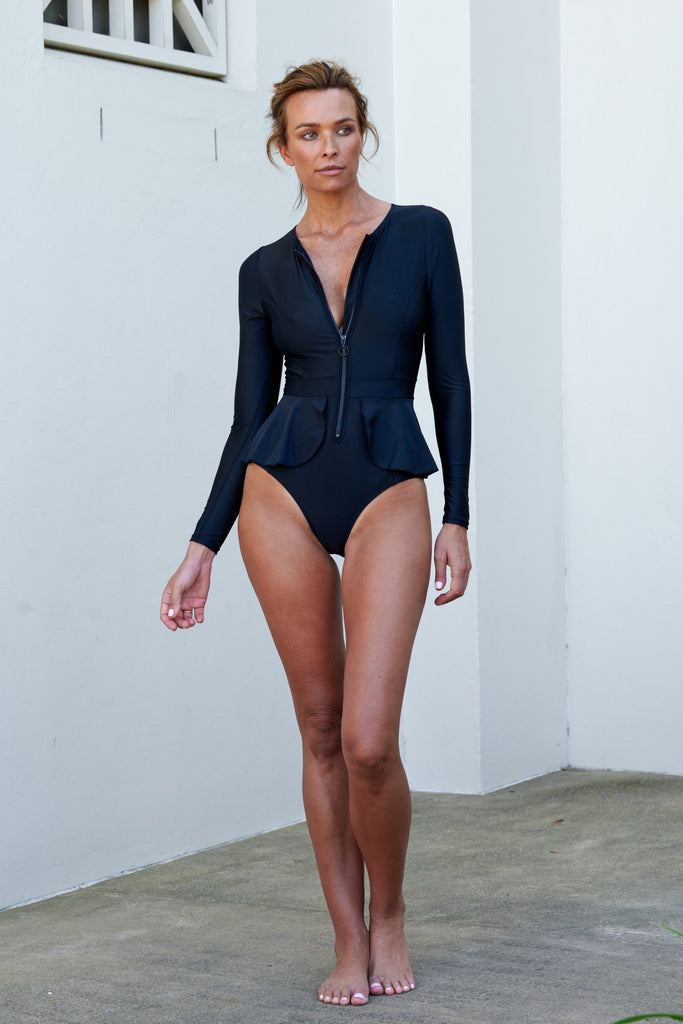 Elle Long Sleeve Suit | Black