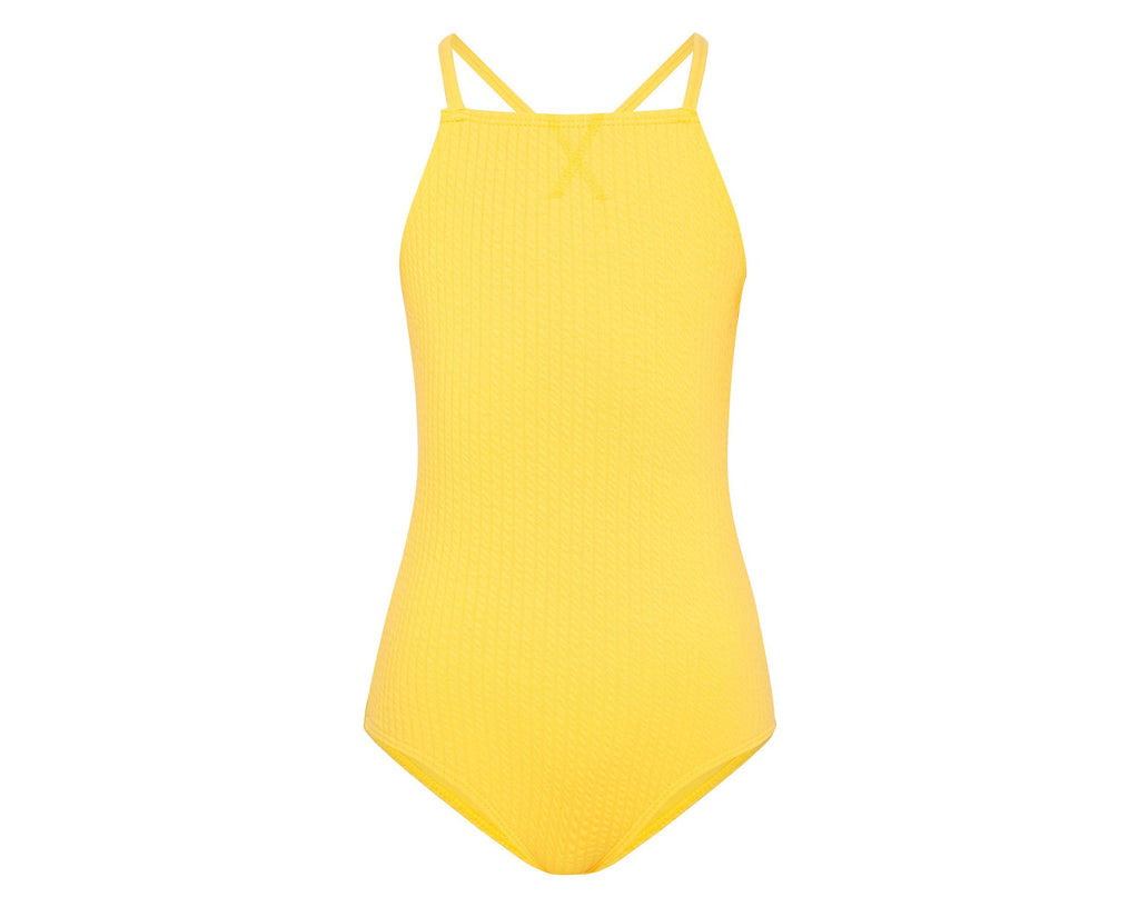 Amelie Canary Yellow Cross Over One Piece