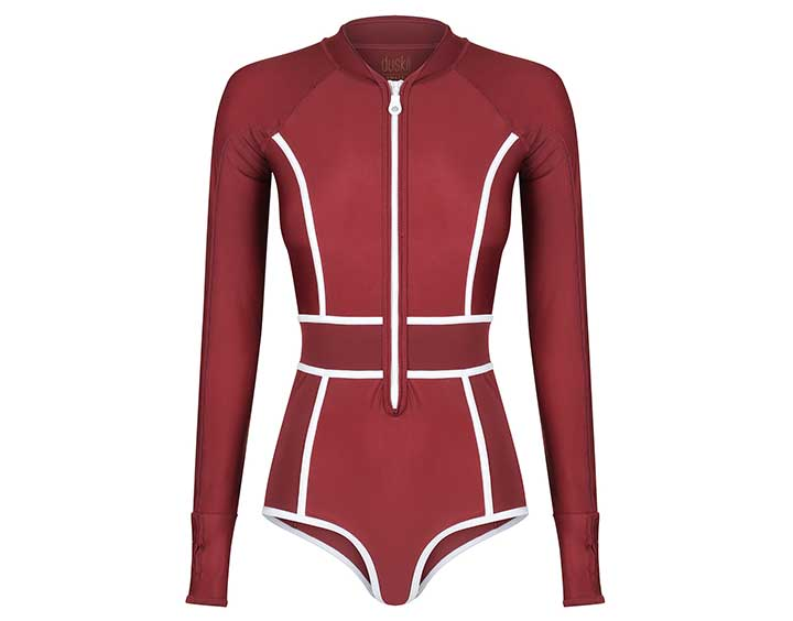 Farrah Long Sleeve Bikini Suit | Burgundy