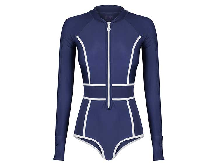 Farrah Long Sleeve Bikini Suit | Indigo