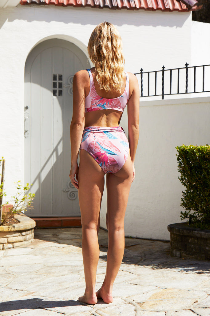 Sahara High Waisted Tie Bottoms | Paradiso Print