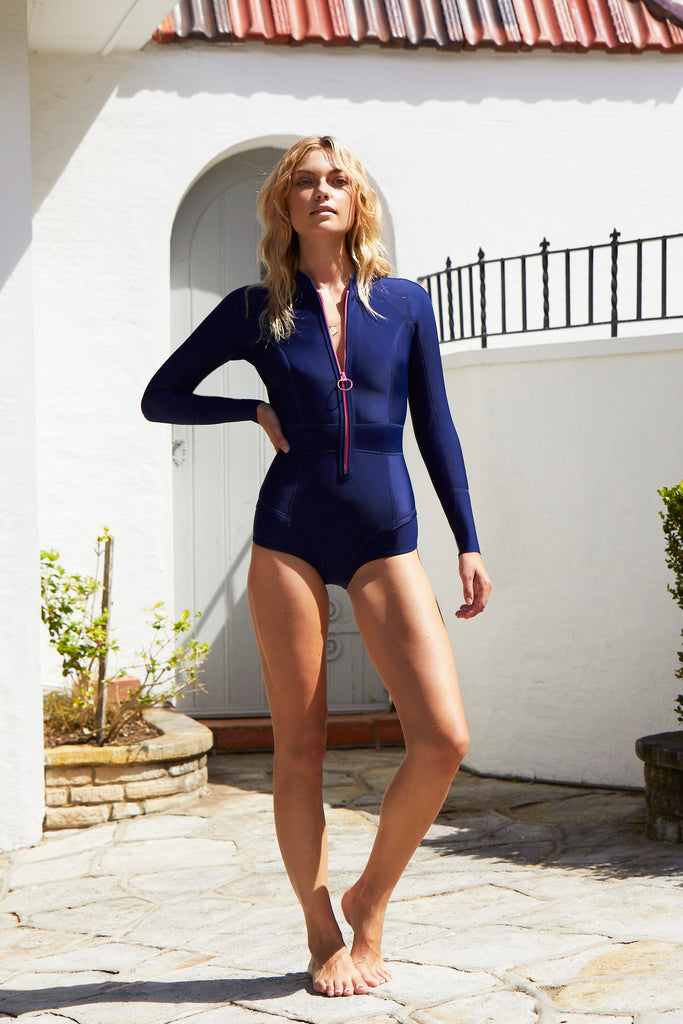 Gisele Long Sleeve Suit | Blueberry