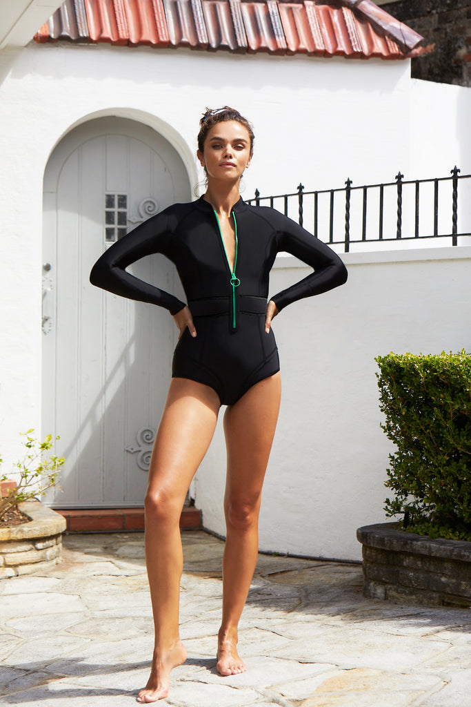 Gisele Long Sleeve Bikini Suit | Ebony