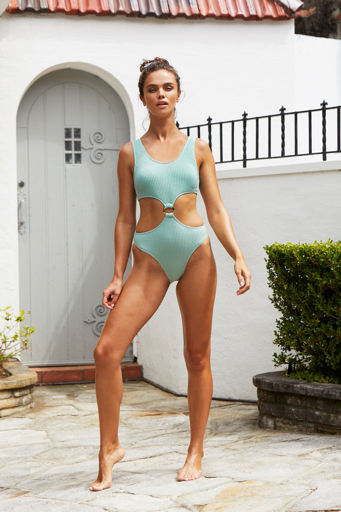 Julia One Piece Suit | Spearmint
