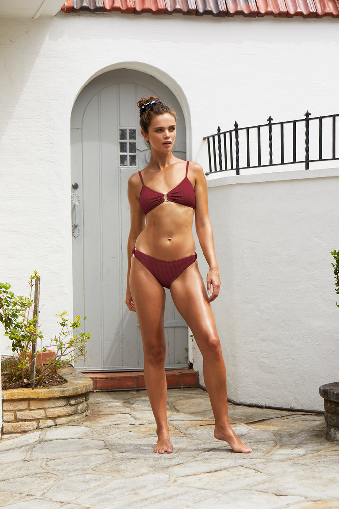 Long Island Bikini Top | Raspberry