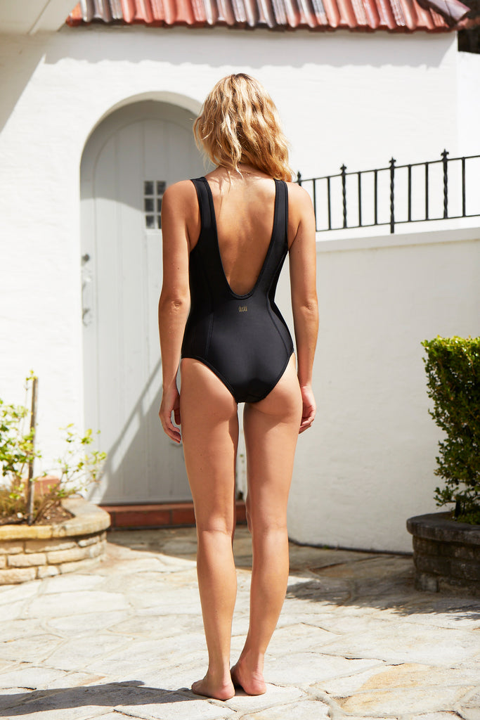 Miranda Zip One Piece | Ebony