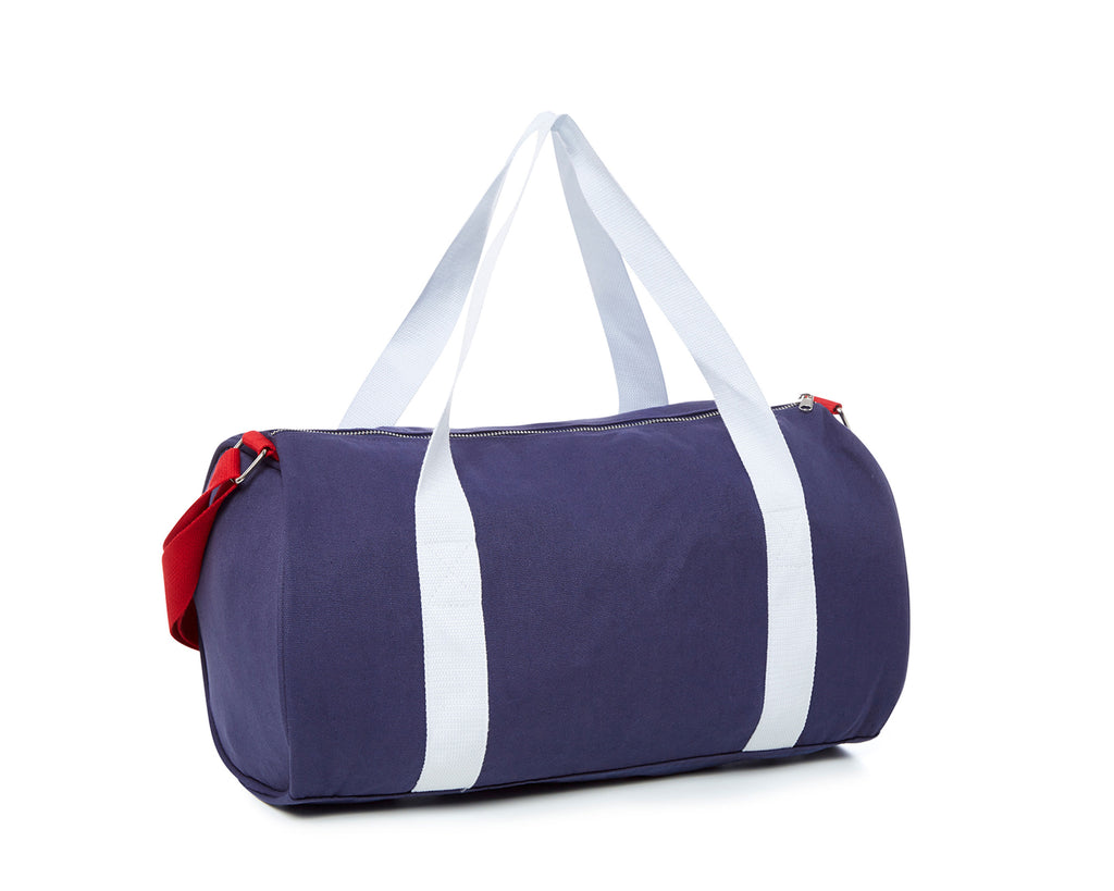duskii Girl Poppy Duffle Bag | Red/Navy/White