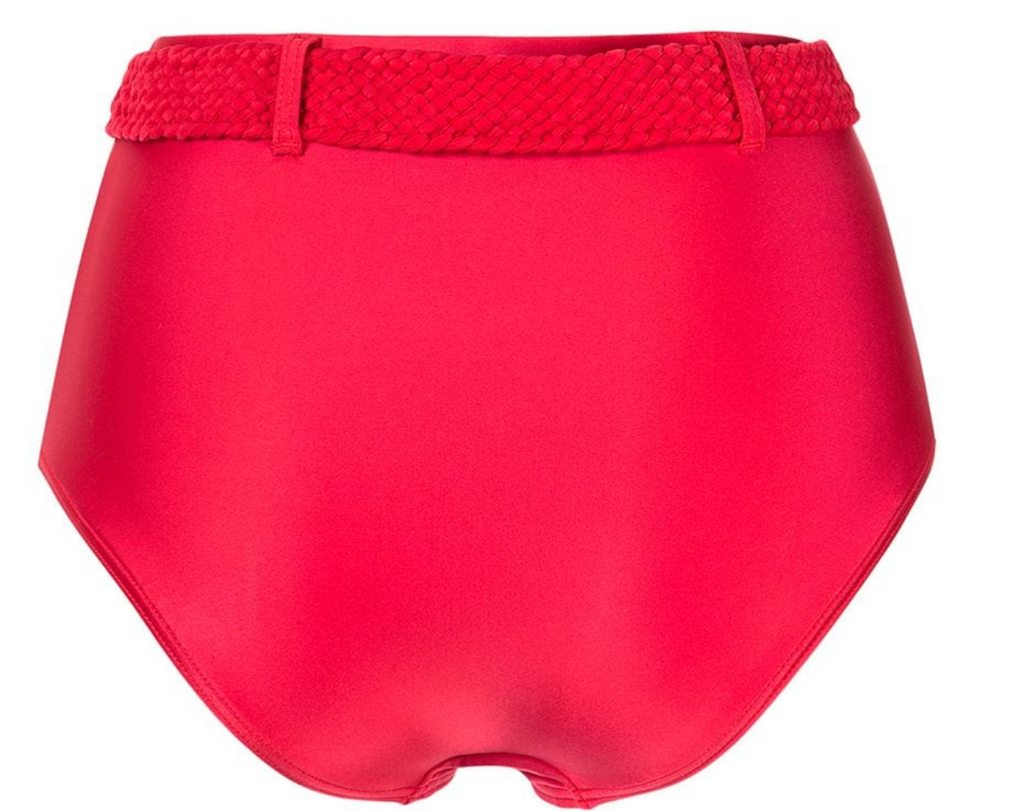 Cerise Belted High Waist Bottom | Cherry