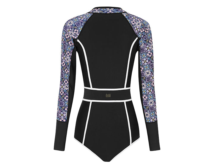 Waikiki Nights Long Sleeve Bikini Suit | Tile Print