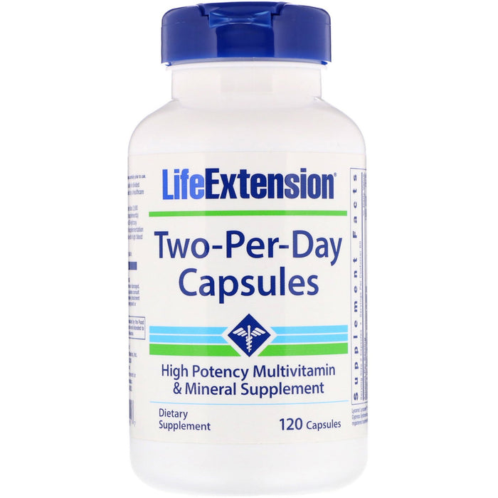 Two-Per-Day Capsules, Life Extension 120 capsules