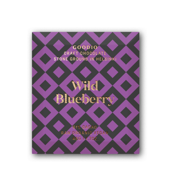 Wild Blueberry (61%), Goodio Chocolate
