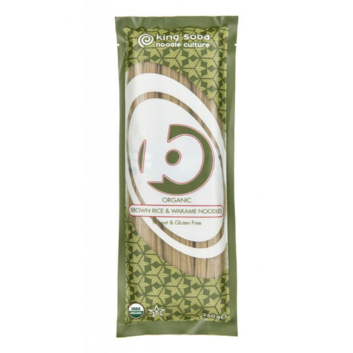 Brown rice & Wakame noodles, King Soba 250 g