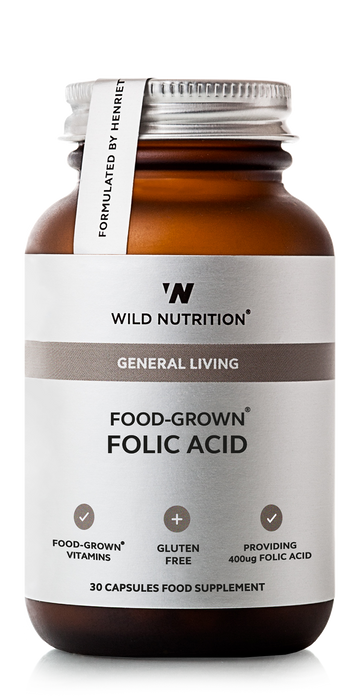 Folic Acid, Wild Nutrition 30 kapsler