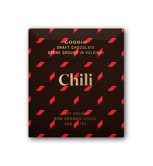 Chili (61%), Goodio Chocolate