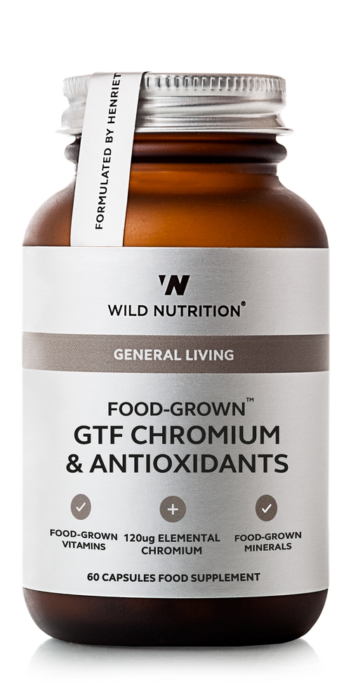GTF Chromium & Antioxidants, Wild Nutrition 60 kapsler