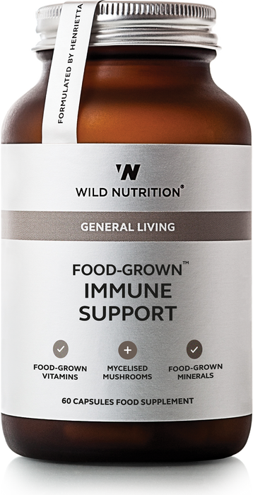 Immune Support, Wild Nutrition 60 kapsler