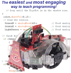 ErgoBot System with Robotics Board and Sensors