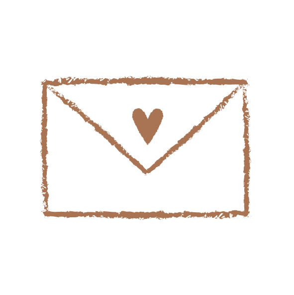 Illustrated Envelope sealed with a heart