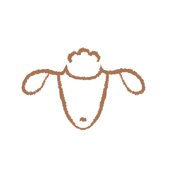 Illustrated sheep face