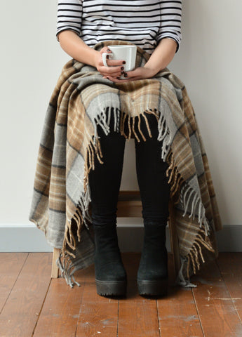 Recycled wool knee blanket | The Tartan Blanket Co.