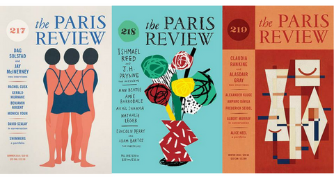 Cover images from past issues of The Paris Review