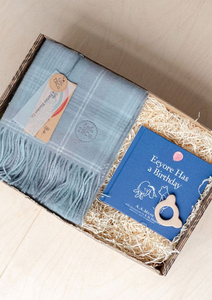 Welcome To The World Baby Boy Gift Box