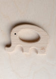 Organic Wooden Elephant Teether