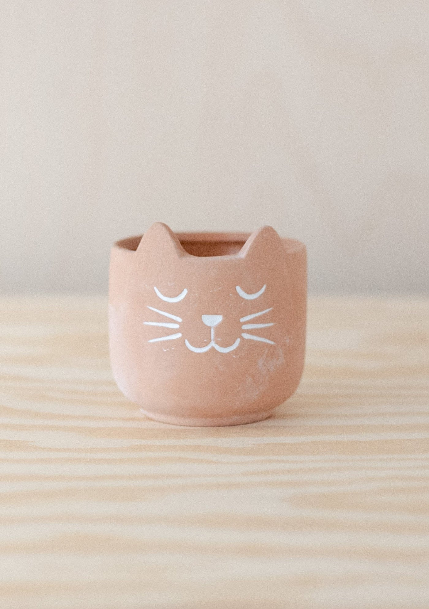Mini Terracotta Kitty Cat Planter