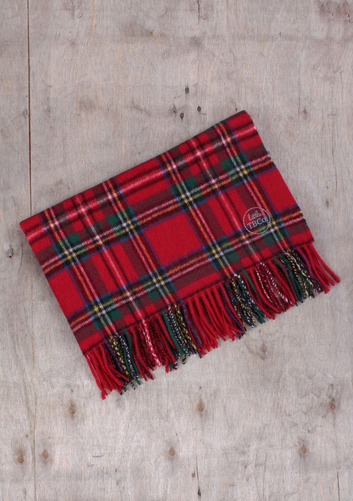 Super Soft Lambswool Baby Blanket in Stewart Royal Tartan