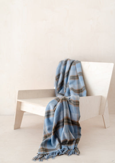 Lambswool Knee Blanket in Coastal Heritage Check