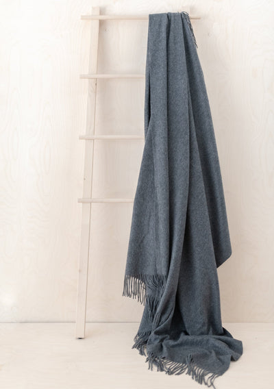 Cashmere Blanket in Charcoal Melange