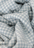 Lambswool Blanket in Soft Stone Gingham