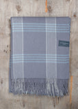 Lambswool Blanket in Quiet Grey & Duck Egg Illusion Check
