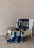 Lambswool Blanket in Dusky Pink & Navy Multi Check