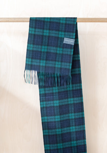 Cashmere Scarf in Black Watch Tartan
