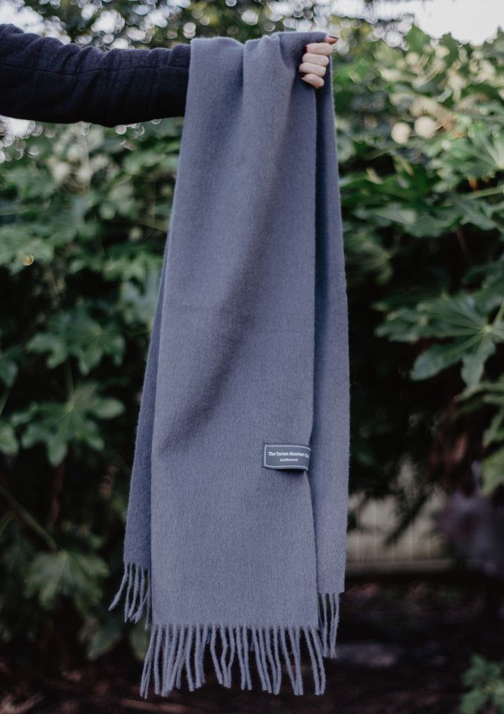 Lambswool Scarf in Charcoal Grey