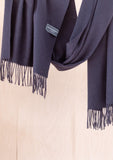 Lambswool Oversized Scarf in Black