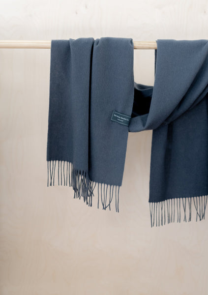 Lambswool Oversized Scarf in Charcoal Grey